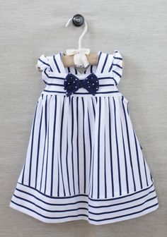Beach portrait clothing Sailor Girl Striped Dress at Little Girl Outfits, Little Girl Fashion, Little Girl Dresses, Toddler Outfits, Baby Girl Dresses, Baby Dress, Cute Dresses, Vintage Girls Dresses, Fashion Kids