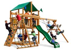 The Royal Palace Wooden Swing Set is totally customizable! Can be added onto as the children grow. Check out the package options for pre-configured Sets. Best Swing Sets, Rope Ladder, Backyard Playground, Tongue And Groove, Royal Palace, Children, Module, Playgrounds, Website