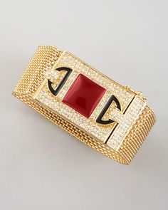 Chain-Maille Bracelet, Red Quartz  by Rachel Zoe at Neiman Marcus.
