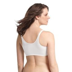 f6404437807ce Playtex 18 Hour Women s Sensationally Sleek Front Close Wireless Bra 4930  White - 40DDD