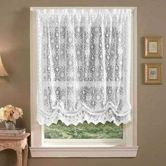 Lorraine Home Fashions Hopewell Lace Window Shade 58-Inch by 63-Inch White #LorraineHomeFashions #Classic