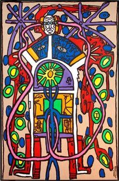 Le père vitrail by Robert Combas