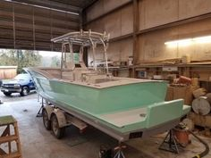 Outer Banks Custom Boat Builders | Boat Repairs | Boat Interiors | Skiffs | Sportfishing Boats | Blog West System Epoxy, Center Console Fishing Boats, Sport Fishing Boats, Hydraulic Steering, Deck Construction, Boat Projects, Old Boats, Boat Interior, Aluminum Boat