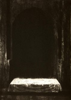 Ken Currie - Shaded Vault, etching, 2005