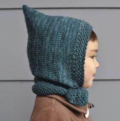 Ravelry: Pixie scarf hat pattern by Miyoko Cacnro -  pattern available on amirisu site - uses tosh dk or tosh merino dk