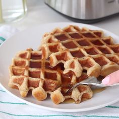 Wait, the peanut butter goes IN the waffle?