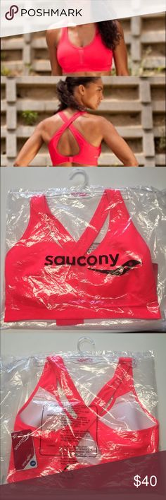 Saucony Curve Crusader Sports Bra The Curve Crusader is in your corner with a bra that provides maximum support with an unexpected open back design for an extra style kick!   • Adjustable bottom band with gel pad hook/eye closure • Crisscross back design • Separated, shaped spacer fabric breathable cups • Moisture-management elastic bottom band • High-impact support for A-DD cups Saucony Intimates & Sleepwear Bras