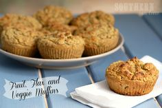 Fruit, Flax, and Veggie Muffins from Southern In-Law