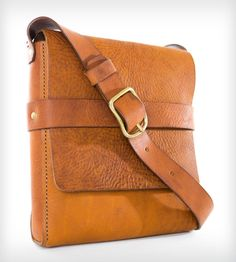Amos Leather Satchel Bag // Messenger Bag // Cross-Body Bag // Italian Leather // Hand-Crafted // Men's // Women's // Hand Made-SR