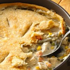 Craving chicken pot pie? Try this gluten-free version made with Pillsbury Gluten Free refrigerated pie and pastry dough!