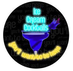 Ice cream cocktails