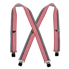 Wear the American flag proudly with these high quality suspenders. The heavy duty clip-ends securely fasten to your waistline and keep your pants where they are comfortable on your body. Regular adjusts from 32-46 inches and the X-long adjusts from 38.5-54 inches long.