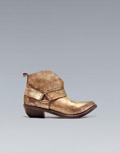 Metallic Ankle Boot - Lyst