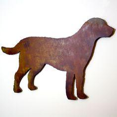 Labrador Retriever metal wall art