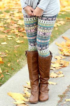 Sweet Tart Knit Fleece Lined Leggings