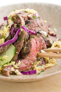 Emeril Lagasse's Beef Salad: Try this Thai classic that has been adapted for the grill and the American home cook.
