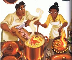 Day 5: Tiana and Naveen may be my favorite couple. Cooking in the kitchen together is just adorable to me.