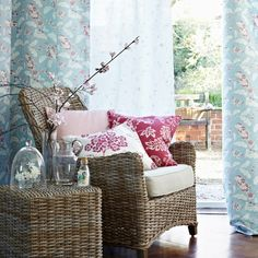 Duck-egg blue and pink living room | country decorating ideas | Country Homes & Interiors | Housetohome.co.uk