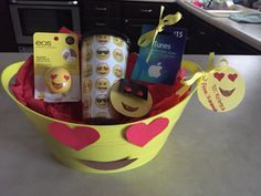 Emoji gift basket I make for my friend kobrea @Swagprincess1 - Savannah Hazlewood