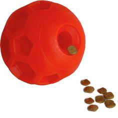 Hipat Dog Treat Ball Dispenser, Orange Soccer IQ Treat Ball Interactive Food Dispensing Dog Toy Fragrance 4-Inch ** More info could be found at the image url. (This is an affiliate link and I receive a commission for the sales) #Pets