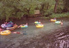 Tubing down Ichetucknee Springs