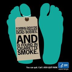 Tobacco smoke is a toxic mix of more than 7,000 chemicals & compounds, including formaldehyde.