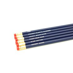 Pencil Set (gotta work on that mustache... one of these days)