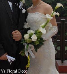 6月に東郷記念館さんへお届けしましたカラーを使ったアームブーケです。新婦さんよりお写真をいただきましたのでご紹介いたします。長くて白いカラーを使ったアーム...