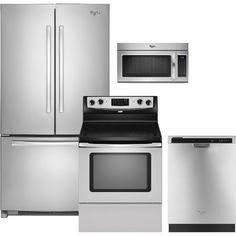 Whirlpool 4-piece Electric French Door Appliance Package