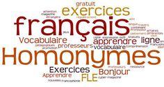 Les homonymes : des mots qui se prononcent souvent de la même manière mais qui n'ont pas le même sens !!! Des casse-pieds, oui ...