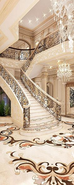 Exterior entryway stairs staircase wall decorating ideas stairway townhouse small hallway beautiful homes best peter mikic Mansion Interior, Luxury Homes Interior, Luxury Home Decor, Room Interior, Luxury Apartments, Interior Ideas, Grand Staircase, Staircase Design, Luxury Staircase