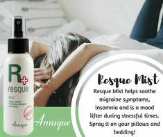 Resque Mist is a must have item in your home as we go into the cold and flu season.  It alleviates stuffy noses and snoring!  Definitely a bedside table item!