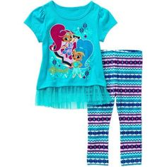Shimmer and Shine Toddler Girl Knit Tunic and Leggings Outfit Set - Walmart.com