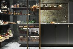 Vegetable drawers, Bespoke Kitchens - Poggenpohl's 'Fourth Wall' (houseandgarden.co.uk)