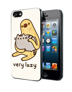 Pusheen cat and sloth Samsung Galaxy S3/ S4 case, iPhone 4/4S / 5/ 5s/ 5c case, iPod Touch 4 / 5 case