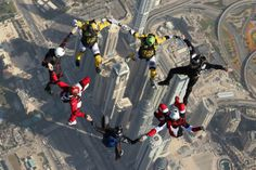Boogie in the sky! #SkydiveDubai #Winterfest