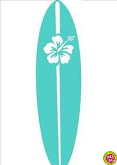 Deco Surf, Surfboard Painting, Song Of The Sea, Surf Decor, Van Design, Beach Crafts, Bikini Workout, Blue Life, Luau