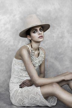 GUILD HATTERY - Silvia Kebbinau photographed by Sandra Palm for Flawless Magazine