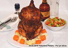 24.02.2016 Valentina Pielaru - Pui pe sticla Tandoori Chicken, Ethnic Recipes, Food, Tripod, Essen, Meals, Yemek, Eten