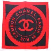 Vintage Chanel Extra Large Silk Scarf Huge CC Logo