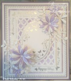 Phills' Crafty Place: Butterfly Elegance - Coconut White & Lilac - Sneaky Peek!