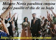 Milagro Novia paralítica camina por el pasillo el día de su boda