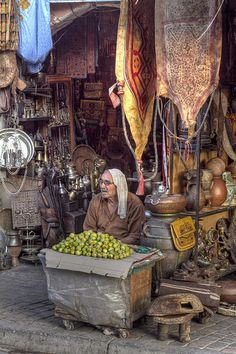 Lemon seller in Marrakech medina