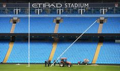Fans are still being encouraged to attend the Rugby World Cup hosts' dead rubber against Uruguay at the Etihad but the atmosphere for the other code's showpiece at Old Trafford will be a stark contrast