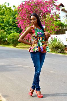 Kiki's Fashion: Peplum top designed by Kiki Zimba
