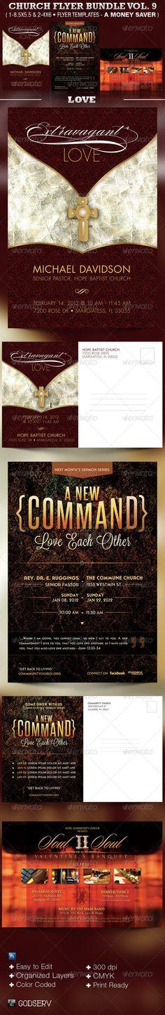 Holiness Church Flyer Template Bundle Flyer template, Print - christian flyer templates