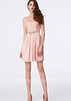 Beads Sash Scoop Short Length A-line Sleeveless Lace Zipper Homecoming / Prom Dresses Cheap Cocktail Dresses, Sash, Homecoming, Prom Dresses, Zipper, Beads, Fashion, Beading, Moda