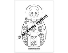 Ugandan Matryoshka Coloring sheet PDF by AmyPerrotti on Etsy