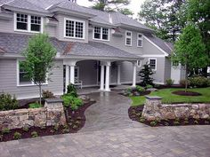 Front Flagstone Walkway, Front Yard Landscaping