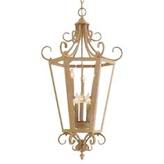 "View the Minka Lavery 7601 6 Light 30"" Height Indoor Lantern Pendant at LightingDirect.com."